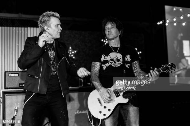 Musician Billy Idol and Guitarist Billy Morrison perform at the UCLA Operation Mend 10 Year Anniversary at the Home of Founder Ron Katz Sponsored by...