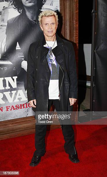 Musician Billy Idol arrives at the John Varvatos Rock In Fashion book launch celebration held at John Varvatos Los Angeles on November 7 2013 in Los...