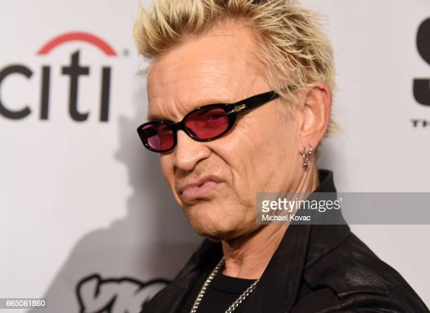 """Musician Billy Idol attends the screening for """"SHOT! The Psycho Spiritual Mantra of Rock"""" at The Grove presented by CITI on April 5, 2017 in Los..."""
