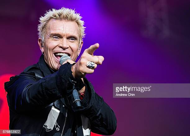 Musician Billy Idol performs onstage during day 3 of Pemberton Music Festival on July 16, 2016 in Pemberton, Canada.