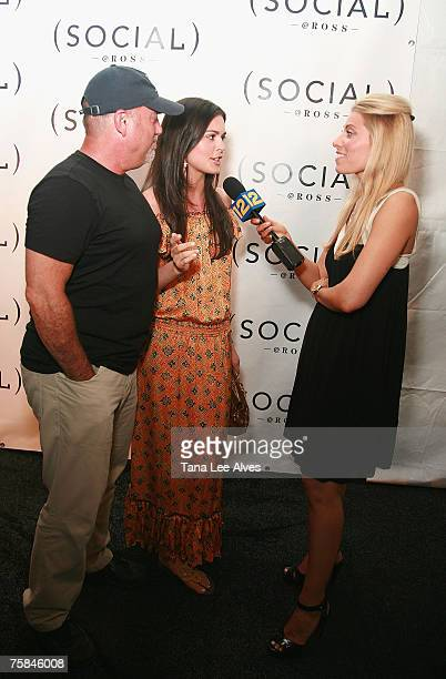Musician Billy Joel and wife Katie Lee Joel are interviewed by TV Personality Gina Glickman at the Hampton SOCIAL @Ross Performance by Dave Matthews...