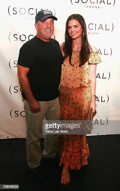 Musician Billy Joel and wife Katie Lee Joel visit the Hampton SOCIAL @Ross Performance by Dave Matthews Band at the Ross School July 28 2007 in East...