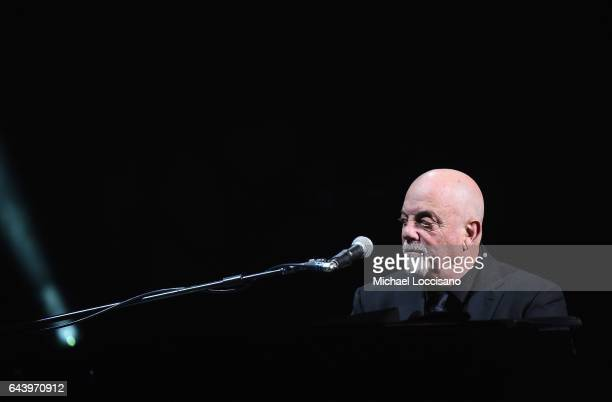 Musician Billy Joel performs at Madison Square Garden on February 22 2017 in New York City