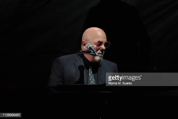 Musician Billy Joel performs at the 61st sold out of show of his monthly residency at Madison Square Garden on February 14 2019 in New York City