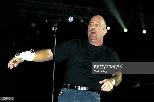 Musician Billy Joel performs during rehearsals for the Andre Agassi Foundation's 8th Annual Grand Slam for Children benefit concert at the MGM Grand...