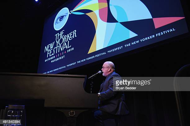 Musician Billy Joel performs onstage at the New Yorker Festival 2015 - Billy Joel Talks With Nick Paumgarten at SIR Stage 37 on October 4, 2015 in...