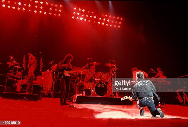 Musician Billy Joel performs onstage at the Rosemont Horizon Rosemont Illinois February 28 1990