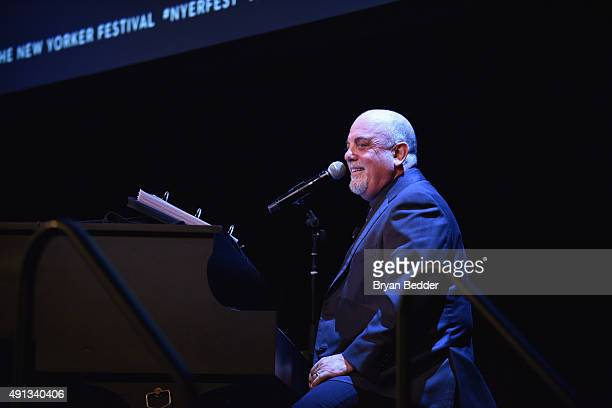 Musician Billy Joel speaks onstage at the New Yorker Festival 2015 - Billy Joel Talks With Nick Paumgarten at SIR Stage 37 on October 4, 2015 in New...
