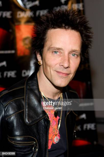"""Musician Billy Morrison attends the Gibson Guitar """"Dark Fire"""" Launch Party at the Gibson Showroom on December 15, 2008 in Beverly Hills, California."""