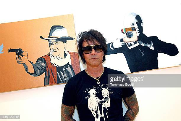 Musician Billy Morrison Gallery Opening Of 'Social Distortion A Capsule Collection Of Fine Art By Billy Morrison' at Art On Scene on October 29 2016...