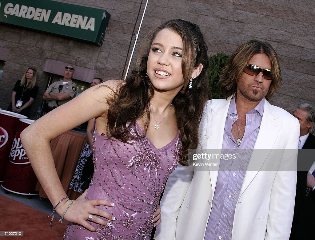 Musician Billy Ray Cyrus and daughter Miley arrive at the 41st Annual Academy Of Country Music Awards held at the MGM Grand Garden Arena on May 23, 2006 in Las Vegas, Nevada.