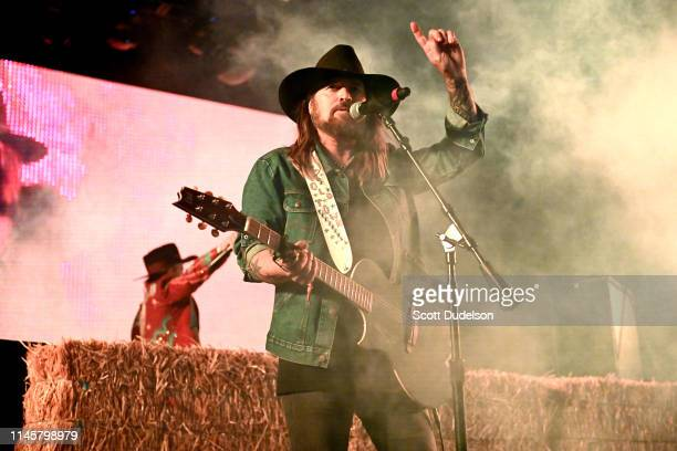 Musician Billy Ray Cyrus performs onstage as a special guest of Diplo during Day 3 of the Stagecoach Music Festival on April 28, 2019 in Indio,...