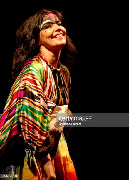 Musician Bjork performs at the Apollo on April 11 2008 in Manchester England