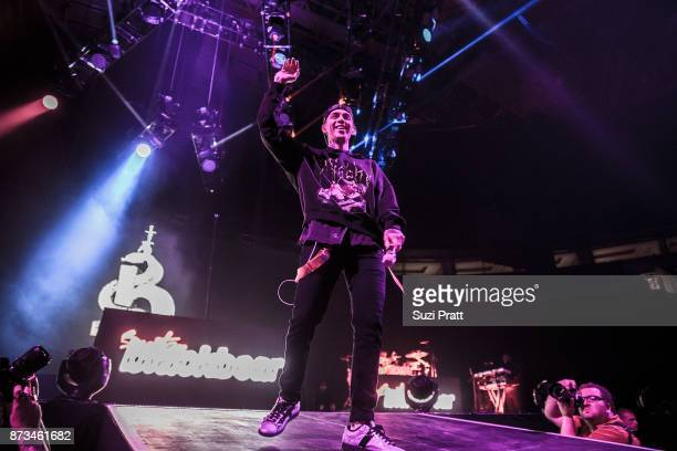 Musician Blackbear performs at KeyArena on November 12 2017 in Seattle Washington