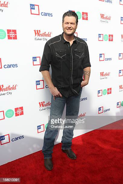 Musician Blake Shelton arrives at the JCPenney 12 day holiday giving tour performance at JCPenney on December 8 2012 in Culver City California