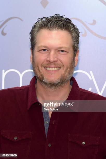 Musician Blake Shelton attends the BS By Blake Shelton Launch at Macy's Herald Square on November 2 2017 in New York City