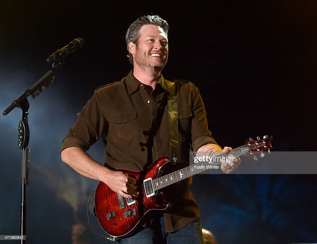 Musician Blake Shelton performs onstage during day three of 2015 Stagecoach, California's Country Music Festival, at The Empire Polo Club on April 26, 2015 in Indio, California.