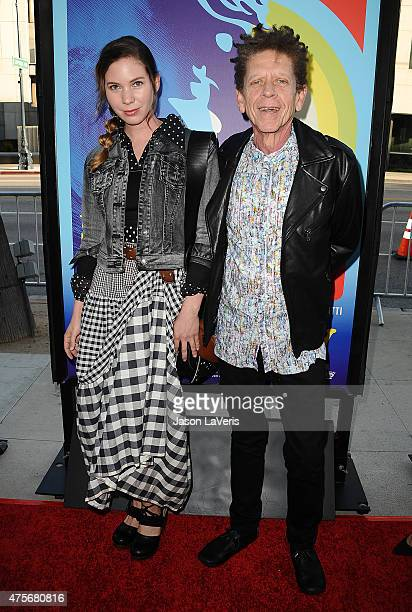 """Musician Blondie Chaplin and guest attend the premiere of """"Love & Mercy"""" at Samuel Goldwyn Theater on June 2, 2015 in Beverly Hills, California."""