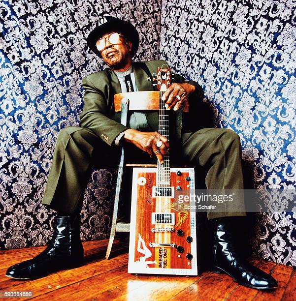 Musician Bo Diddley is photographed in 1998