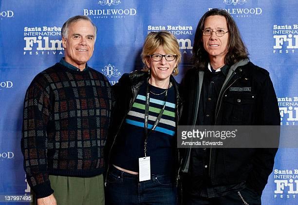 Musician Bob Cowsill director Louise Palanker and musician John Cowsill arrive at the 27th Annual Santa Barbara International Film Festival at the...