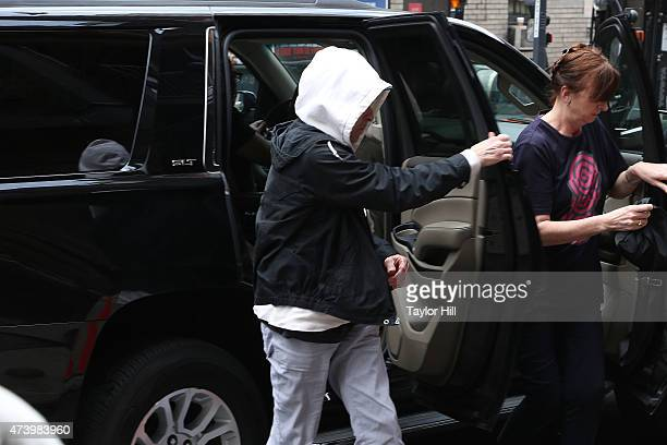 Musician Bob Dylan arrives at 'Late Show with David Letterman' at Ed Sullivan Theater on May 19 2015 in New York City