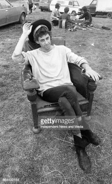 Musician Bob Geldof after the Castlebar Rock Festival Co Mayo August 1 1982