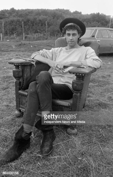 Musician Bob Geldof after the Castlebar Rock Festival Co Mayo August 1 1982