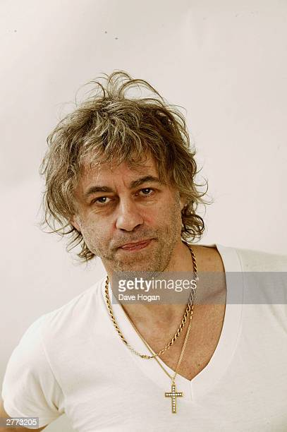 Musician Bob Geldof poses for a portrait in a studio at the 46664 Give One Minute of Your Life to AIDS concert held on November 29 2003 at Greenpoint...