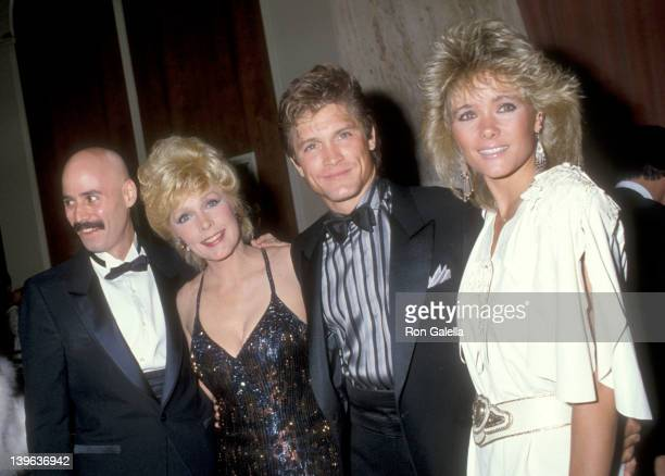 Musician Bob Kulick actress Stella Stevens actor Andrew Stevens and date attend the WrapUp Party for the Eighth Season of The Love Boat on March 31...
