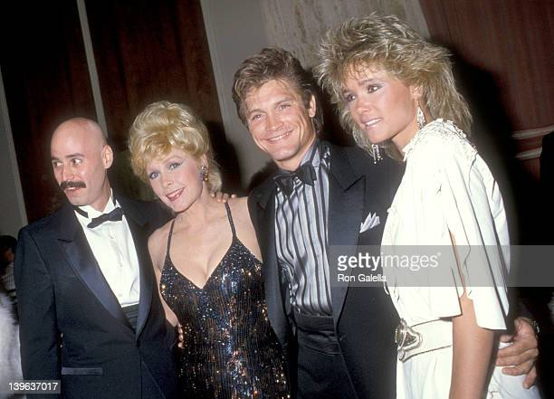 Musician Bob Kulick actress Stella Stevens actor Andrew Stevens and date attend the WrapUp Party for the Eighth Season of 'The Love Boat' on March 31...