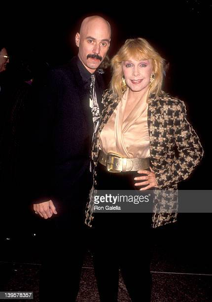 Musician Bob Kulick and actress Stella Stevens attend The Artists Rights Foundation Benefit Gala on December 4 1991 at DGA Theatre in West Hollywood...