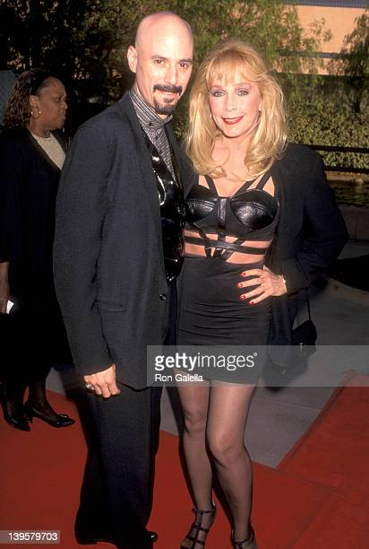 Musician Bob Kulick and actress Stella Stevens attend The Nutty Professor Universal City Premiere on June 27 1996 at Universal Amphitheatre in...