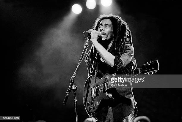 Musician Bob Marley performs onstage at the Auditorium Theater Chicago Illinois May 27 1978