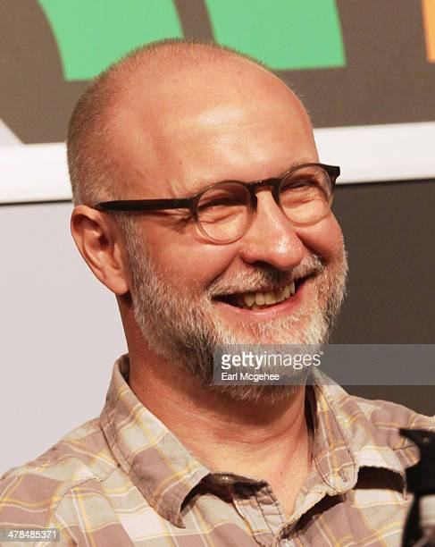 Musician Bob Mould speaks onstage at Warehouse Songs and Stories during the 2014 SXSW Music Film Interactive at Austin Convention Center on March 13...