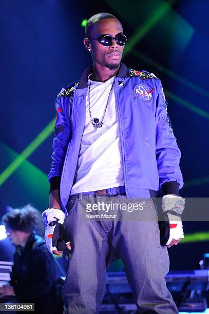 Musician BoB performs onstage during VH1's Super Bowl Fan Jam at Indiana State Fairgrounds Pepsi Coliseum on February 2 2012 in Indianapolis Indiana