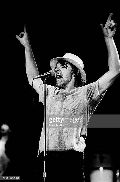 Musician Bob Seger performs at the Poplar Creek Music Theater Hoffman Estates Illinois August 15 1986
