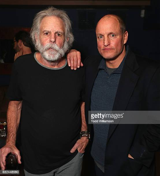 Musician Bob Weir and actor Woody Harrelson attends the Amazon Studios celebration of 'Long Strange Trip' at the 2017 Sundance Film Festival...