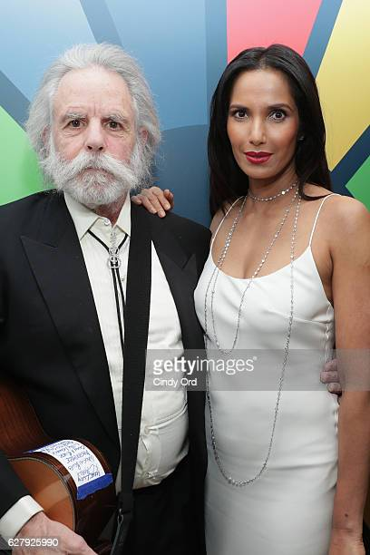 Musician Bob Weir and Executive Producer author and host Padma Lakshmi attends the United Nations Development Programme Inaugural Global Goals Gala A...