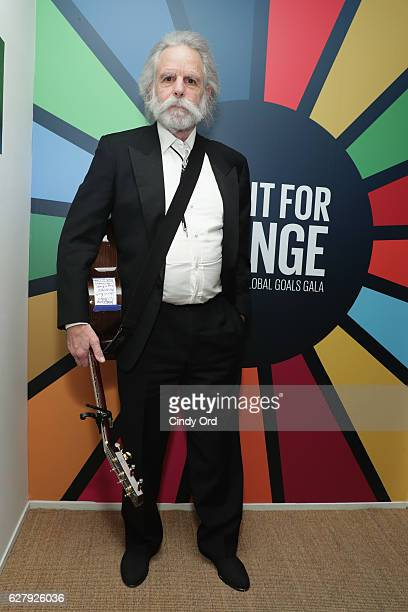 Musician Bob Weir attends the United Nations Development Programme Inaugural Global Goals Gala A Night for Change at Phillips in Manhattan on...