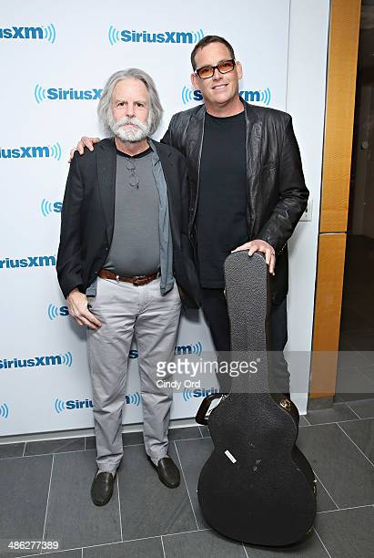 Musician Bob Weir of The Grateful Dead and director Mike Fleiss visit the SiriusXM Studios on April 23 2014 in New York City
