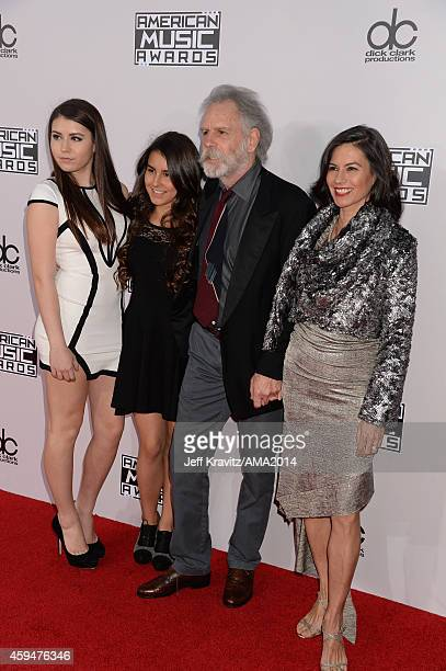 Musician Bob Weir of the Grateful Dead with Monet Weir Chloe Weir and Natascha Weir attends the 2014 American Music Awards at Nokia Theatre LA Live...