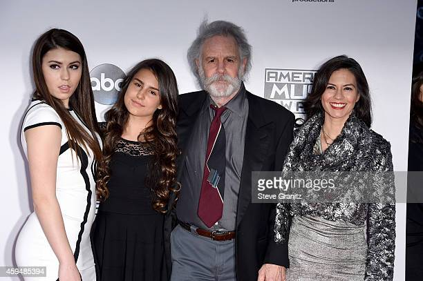 Musician Bob Weir of the Grateful Dead with Monet Weir Chloe Weir and Natascha Weir attend the 2014 American Music Awards at Nokia Theatre LA Live on...