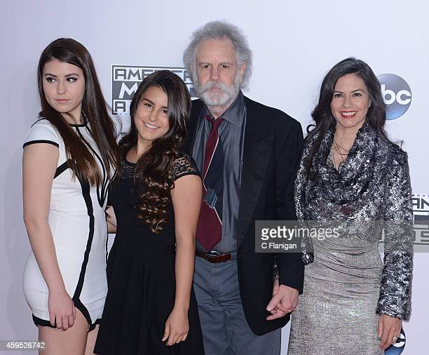 Musician Bob Weir of the Grateful Dead with Monet Weir Chloe Weir and Natascha Weir attend the 42nd Annual American Music Awards at Nokia Theatre LA...
