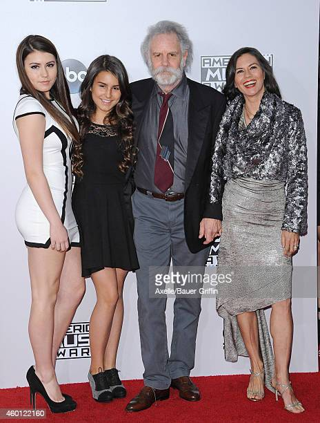 Musician Bob Weir of the Grateful Dead with Monet Weir Chloe Weir and Natascha Weir arrive at the 2014 American Music Awards at Nokia Theatre LA Live...