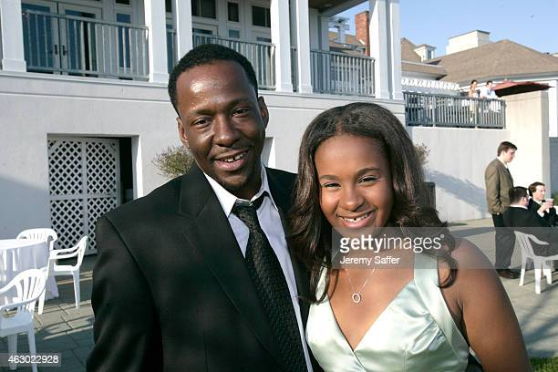 Musician Bobby Brown and his daughter Bobbi Kristina Brown attend the wedding of a friend at a private resort spa circa May 6 2006 in Westbrook...
