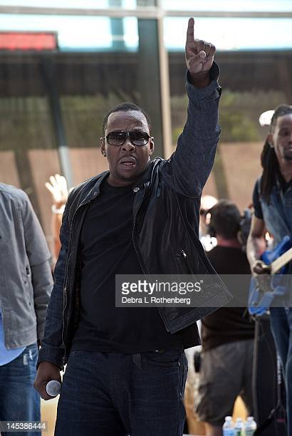 Musician Bobby Brown performs on NBC's Today at Rockefeller Plaza on May 28 2012 in New York City