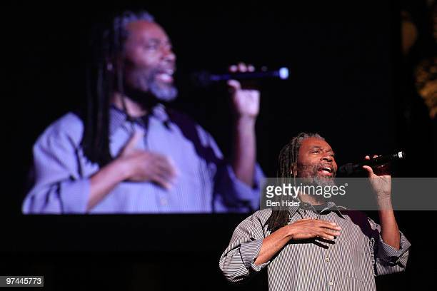Musician Bobby McFerrin performs at Thank You Tibet at the Cathedral of St John the Divine on March 4 2010 in New York City