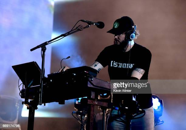 Musician Bon Iver performs on the Coachella Stage during day 2 of the Coachella Valley Music And Arts Festival at the Empire Polo Club on April 15...