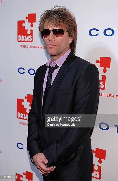 Musician Bon Jon Jovi attends DKMS' 4th Annual Gala Linked Against Leukemia at Cipriani 42nd Street on April 29 2010 in New York City
