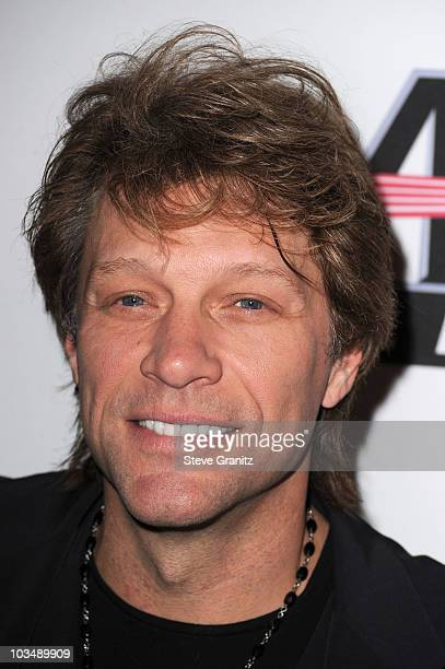 Musician Bon Jovi arrives at the 52nd Annual GRAMMY Awards Salute To Icons Honoring Doug Morris held at The Beverly Hilton Hotel on January 30 2010...